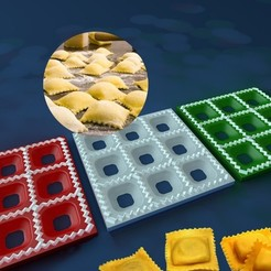 Ravioli-Maker_display_large.jpg Download free STL file Ravioli Maker • Template to 3D print, Balkhnarb