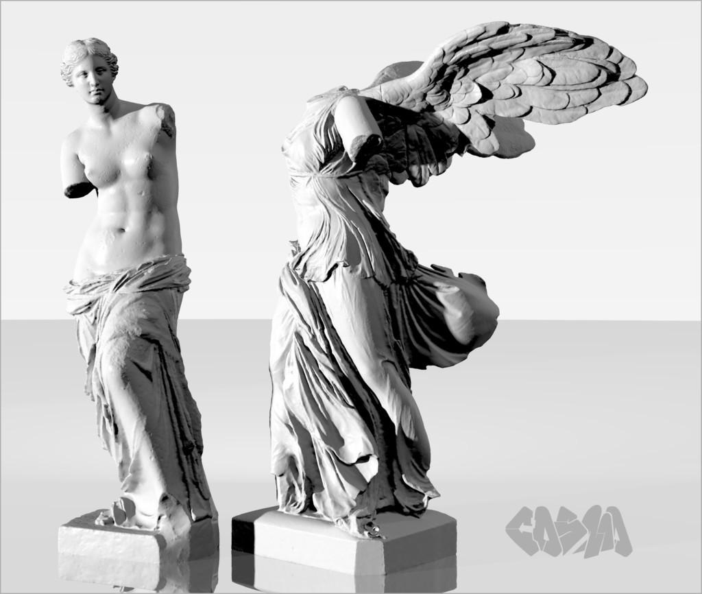 20131227VenusDeMiloWingedVictoryRender_CosmoWenman_display_large.jpg Download free OBJ file Winged Victory of Samothrace • 3D printable object, Ghashgar