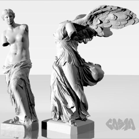 20131227VenusDeMiloWingedVictoryRender_CosmoWenman_display_large.jpg Télécharger fichier OBJ gratuit Vénus de Milo • Modèle imprimable en 3D, Ghashgar