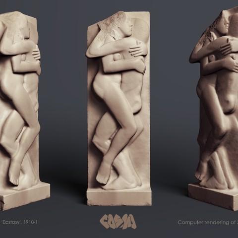 """Télécharger plan imprimante 3D gatuit Eric Gill, """" Ecstasy """", 1910-1, Ghashgar"""