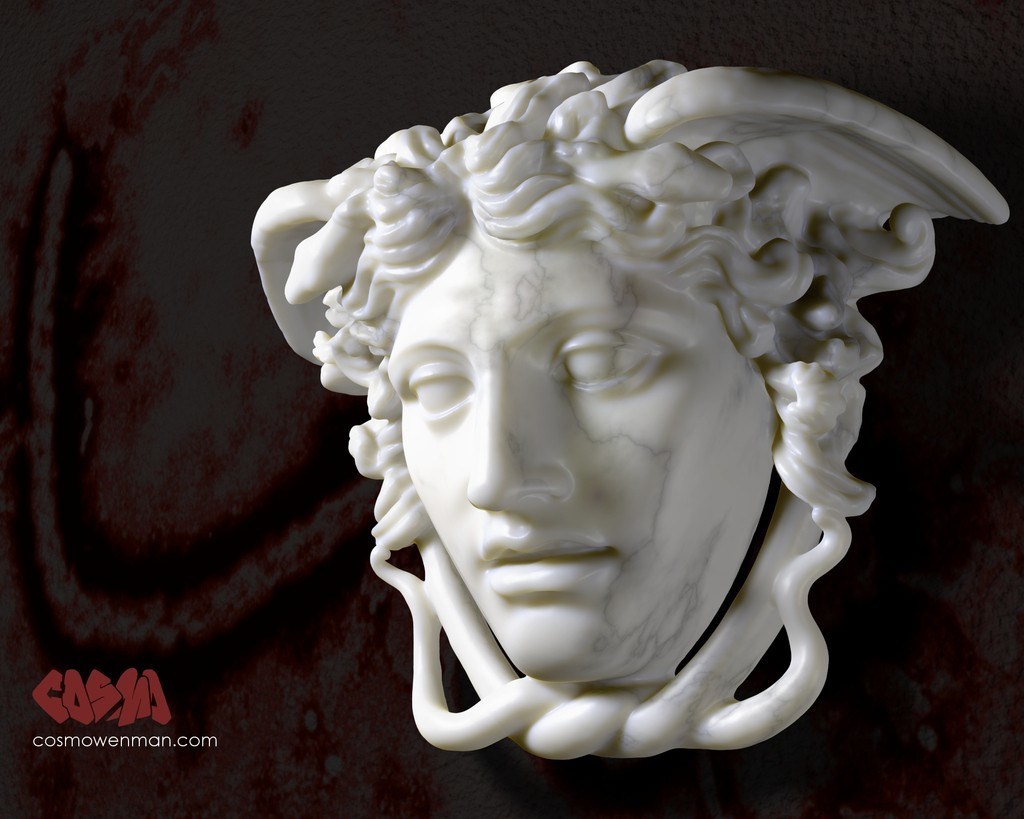 20141019_MedusaRondanini_by_CosmoWenman_display_large.jpg Download free OBJ file The Medusa Rondanini • 3D print template, Ghashgar
