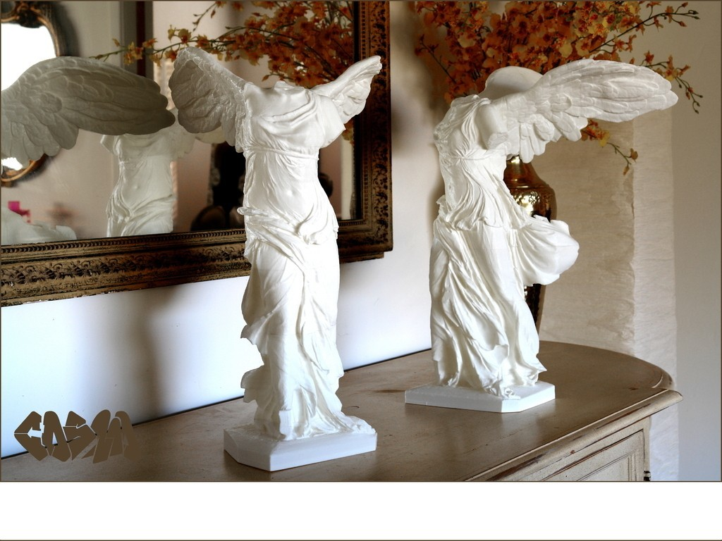 Winged_Victory_on_sideboard_4x3_by_Cosmo_Wenman_display_large.jpg Download free OBJ file Winged Victory of Samothrace • 3D printable object, Ghashgar