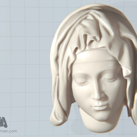 Download free 3D model Michelangelo's Pietà, detail of Mary, Ghashgar