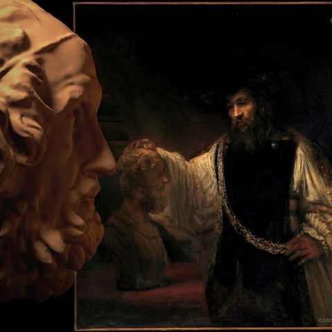 20140722_Homer_Contemplating_a_Rembrandt_of_Aristotle_with_a_Bust_of_Homer_by_Cosmo_Wenman__2400x1800__display_large.jpg Télécharger fichier OBJ gratuit Homère • Design imprimable en 3D, Ghashgar