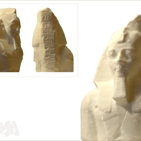 RamessesII_miniature_print_by_Cosmo_Wenman_display_large.jpg Download free STL file Colossal bust of Ramesses II / Ozymandias • 3D printer design, Ghashgar