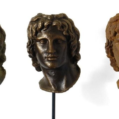 triplet1_display_large.jpg Télécharger fichier STL gratuit Portrait d'Alexandre le Grand • Modèle pour imprimante 3D, Ghashgar