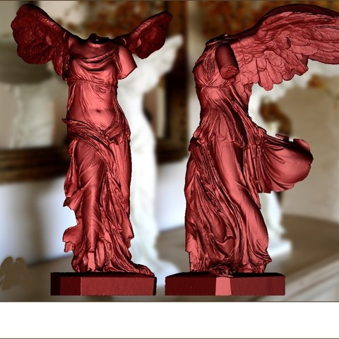 Winged_Victory_render_4x3_by_Cosmo_Wenman_display_large.jpg Download free OBJ file Winged Victory of Samothrace • 3D printable object, Ghashgar