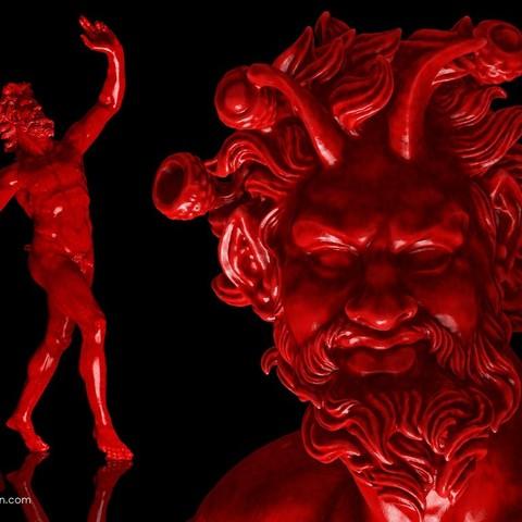 Télécharger plan imprimante 3D gatuit Le Faune Danseur de Pompéi, Ghashgar