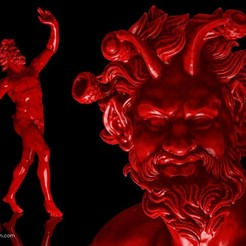 Download free STL files The Dancing Faun of Pompeii, Ghashgar