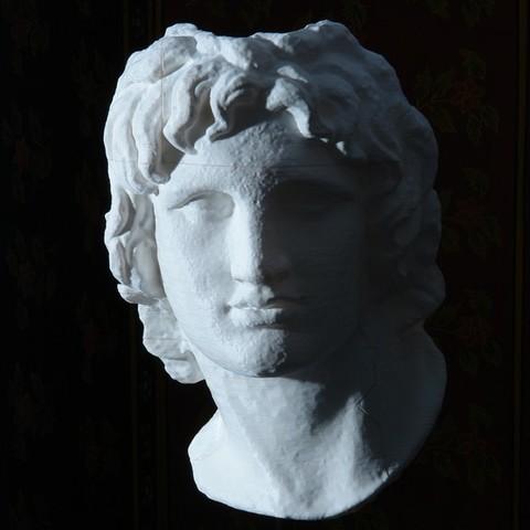 Download free 3D printer files Portrait of Alexander the Great, Ghashgar