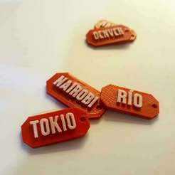 IMG_20200429_215712_675.jpg Download STL file Collection Money Heist - 4 key chain - Tokio, Denver, Rio, Nairovi • 3D printer template, DOER_3D