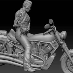 Untitled.jpg Download free STL file Terminator on Bike • 3D print design, johndavisjr248