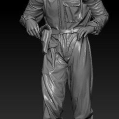 SOVIET  TANK OFFICER.jpg Download STL file Soviet  Tank Officer • 3D print template, johndavisjr248