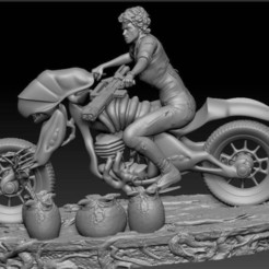 Alien_Biker_fixed.jpg Download free STL file Alien Biker • Template to 3D print, johndavisjr248