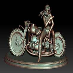biker_girl_5.jpg Download free STL file Biker Girl 5 • 3D printable design, johndavisjr248