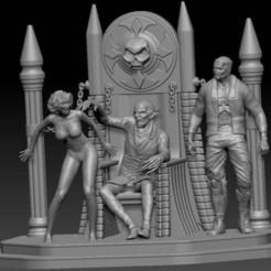 Vampire_Diorama.jpg Download free STL file Vampire Diorama • 3D printing object, johndavisjr248