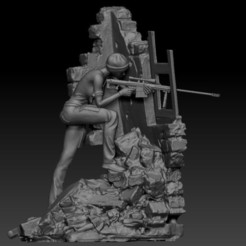 sniper girl v2.jpg Télécharger fichier STL Sniper Girl • Objet à imprimer en 3D, johndavisjr248