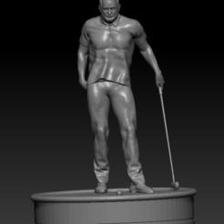 bill murry.jpg Download STL file Bill Murrey Golfer • 3D printing model, johndavisjr248