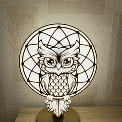 Printed 2.jpg Download STL file Owl Lamp • 3D printing template, Guilouz