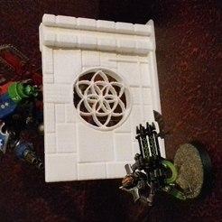 Télécharger objet 3D mur modulable avec rosace, varraults