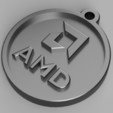 Download free 3D printing files Amd Keychain, metinozyildirim