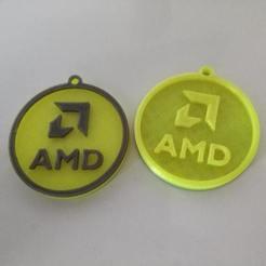 Free 3D print files Amd Keychain, metinozyildirim