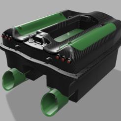 percpective ar.png Télécharger fichier STL Bateau Amorceur peche Carpe l470xL320xh195mm • Plan pour imprimante 3D, yosanthan
