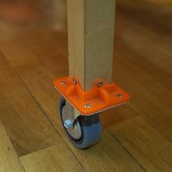 Télécharger objet 3D Adaptateur roulette/pied de table - Adaptator trundle/table stand , mrklm