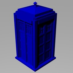 STL files TARDIS Model, TheWizard