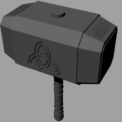 Download 3D print files Mjolnir, Thor's Hammer, TheWizard
