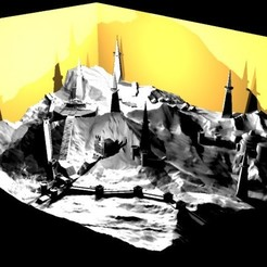 3D printer files Jedi fictional mountainside temple, TheWizard