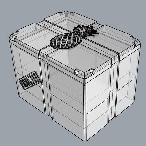 Download 3D printing templates Pineapple Storage Box, TheWizard