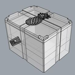 3D printer files Pineapple Storage Box, TheWizard