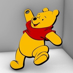 Download 3D printing designs Winnie the Pooh Keychain, TheWizard