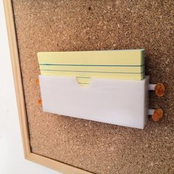 Free STL files Flash Card Holder (thumbtack-able), spofff