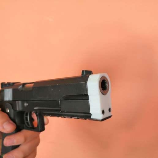 Télécharger fichier STL gratuit Embout de pistolet pour Airsoft hi capa Pistol, spofff