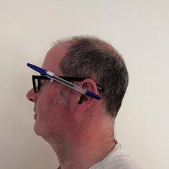Free 3D printer designs Pen/Pencil glasses Clip, spofff