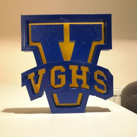 Download free 3D printer designs VGHS sign, spofff