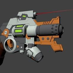 Download STL Revolver highconcept futurist, Overchamy