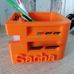 Download free 3D printer files Pot à crayon multifonctions, sachaessner2