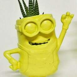 006-2-2.jpg Télécharger fichier STL gratuit Un trou de minion qui agite une jardinière en pot de fleurs • Design pour impression 3D, pampasnet
