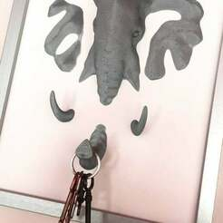 IMG_8759.jpg Download free STL file Elephant Wall Deco key holder coat hanger • 3D printing design, pampasnet