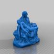 piedad.png Télécharger fichier STL gratuit PIETA DANS LA BASILIQUE ST. PETER, VATICAN • Objet pour impression 3D, pampasnet