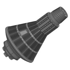 Mercury Spacecraft 1.png Télécharger fichier STL NASA Spacecraft - Capsule spatiale Mercury • Modèle à imprimer en 3D, joseangelmontesperez