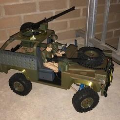 Download 3D printing templates Military Landy Defender, ljbeng