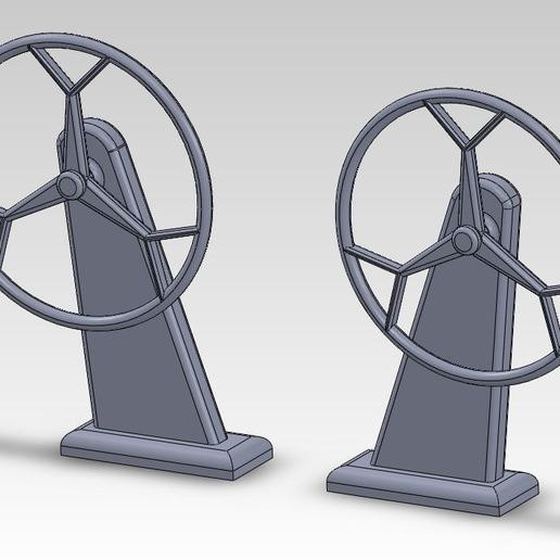 Download free 3D model Helm Model Sailboat Steering Wheel, ManonPRD