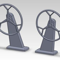 barreAroue.JPG Download free STL file Helm Model Sailboat Steering Wheel • Model to 3D print, ManonPRD