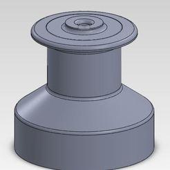 Download free 3D printer designs Winch Model sailing boat, ManonPRD
