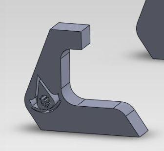 AC.JPG Télécharger fichier STL gratuit Support PS4 Assassin's Creed • Design imprimable en 3D, ManonPRD