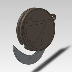 Download free STL file Jewel bag / Keychain secret blade Assassin's creed • 3D print model, ManonPRD